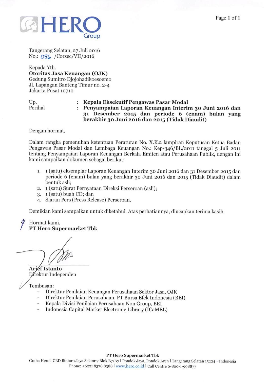 Contoh Laporan Keuangan Perusahaan Yang Telah Diaudit Kumpulan Contoh Laporan